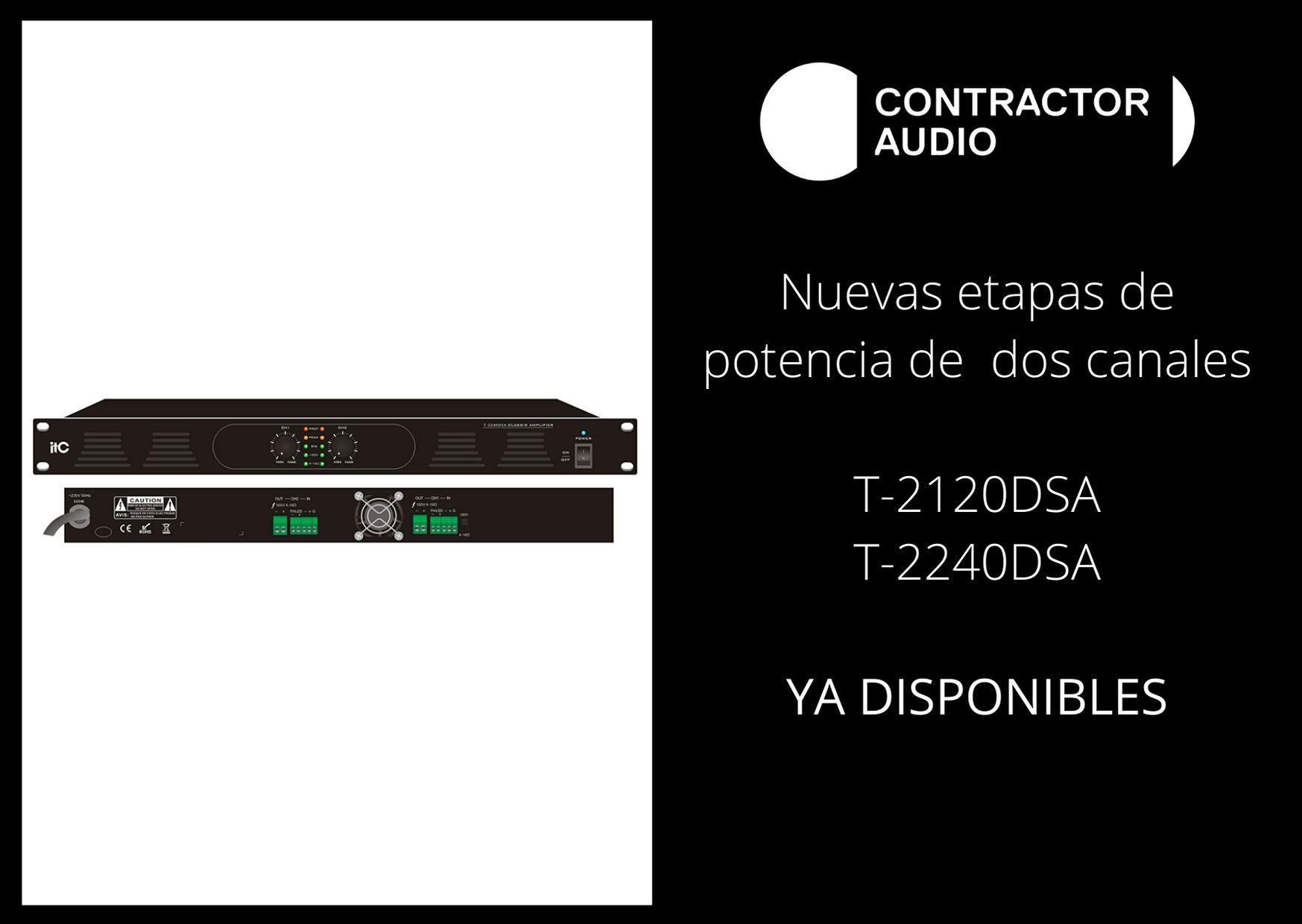 Nuevas etapas disponibles Contractor Audio