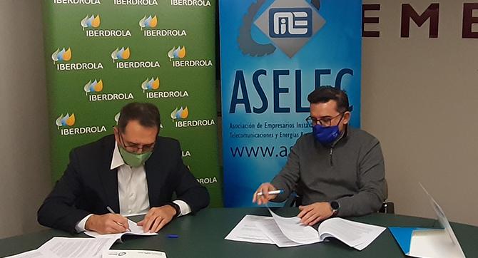 Firma convenio ASELEC IBERDROLA